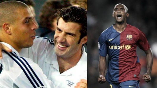 Ronaldo, Luis Figo and Samuel Eto'o