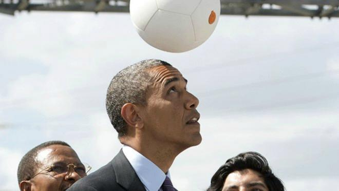 Barack Obama Plays Soccer