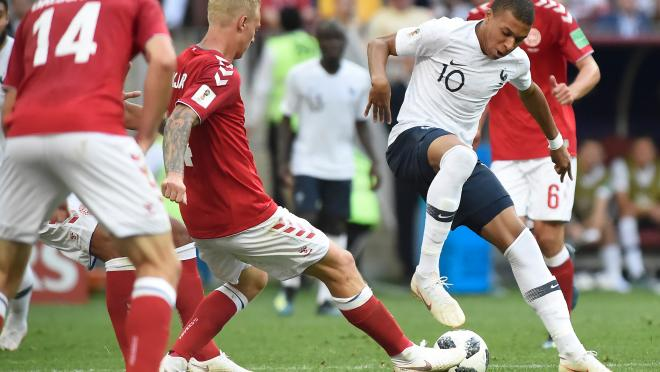 Kylian Mbappe against Denmark