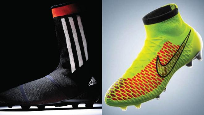 ike's Magista and adidas' primeknit FS concept boots
