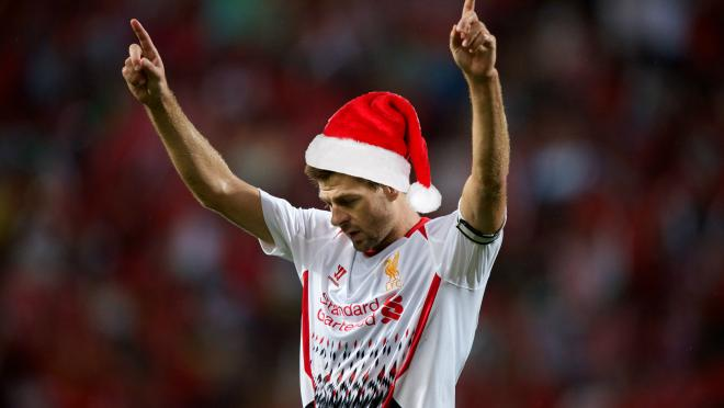 The best Christmas goals of all time - Steven Gerrard celebrates