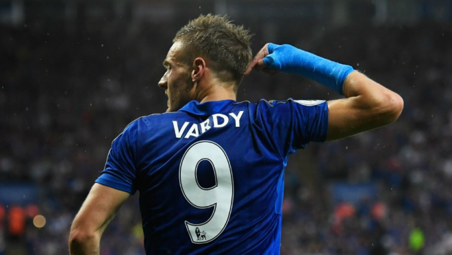 Jamie Vardy of Leicester City