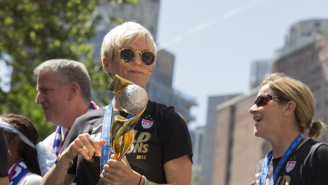 Megan Rapinoe At USWNT Parade