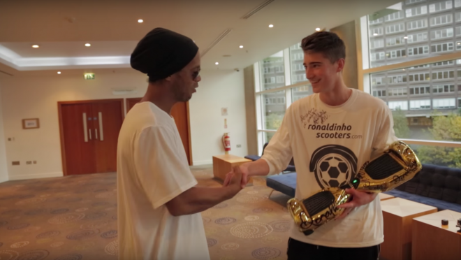 Kieran Brown meets Ronaldinho