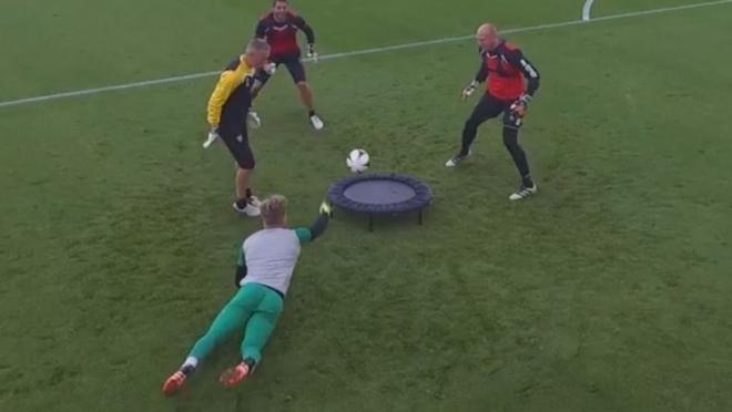 Spike Ball Is A Goalkeeper Drill