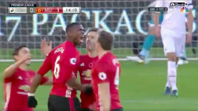 Paul Pogba Scores With An Awesome Volley