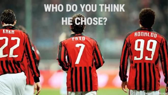 Pato Ronaldo and Kaka A.C. Milan