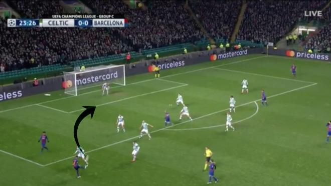 Messi goal on Neymar Assist vs Celtic