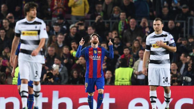 Lionel Messi goal vs Monchengladbach