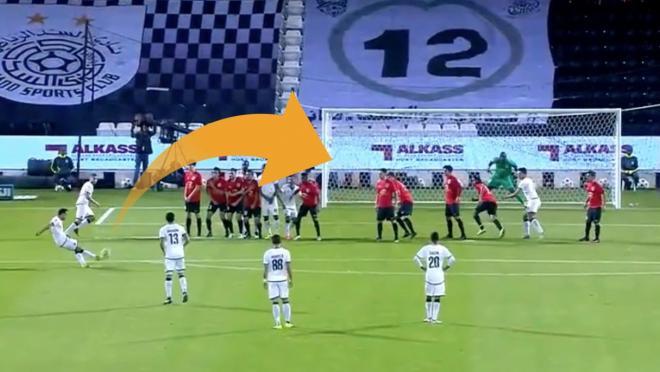 Xavi Goal In Qatar Clasico