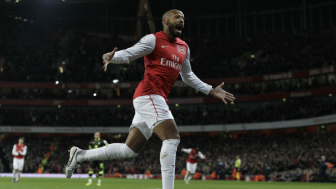 Thierry Henry Scores in His return to Emirates vs Leeds