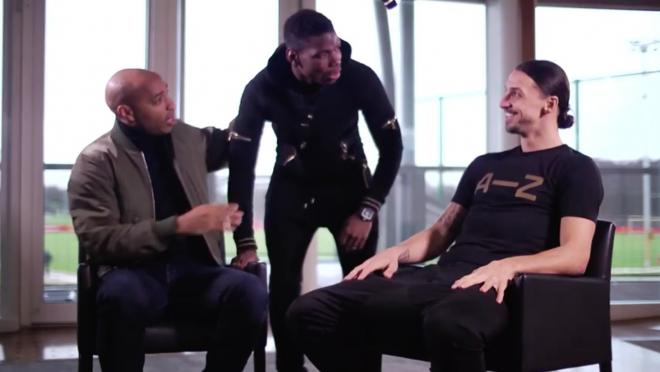 Paul Pogba Crashes Interview With Henry and Zlatan