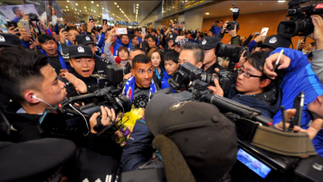 Carlos Tevez Arrival in China