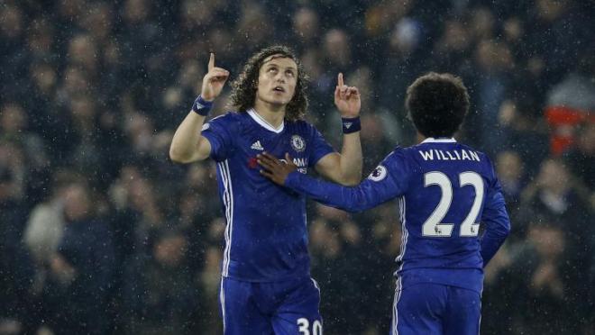 David Luiz goal vs Chelsea