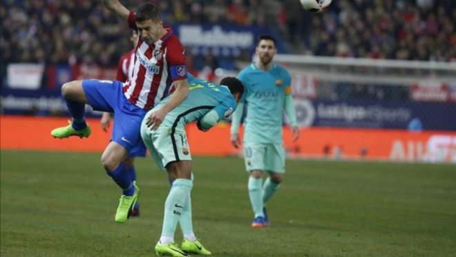 Barcelona and Atletico gets physical