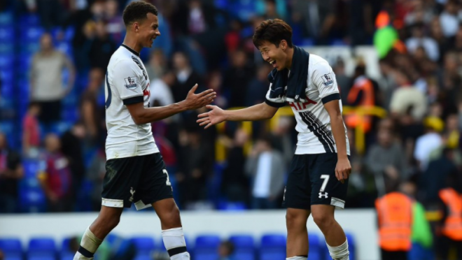 Heung Min Son handshakes Tottenham