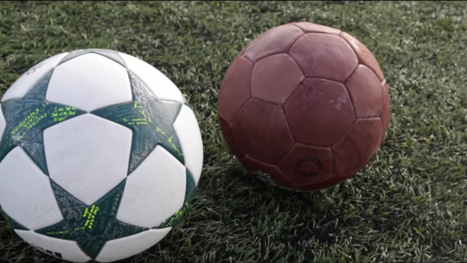 New vs Old Soccer Ball Comparison
