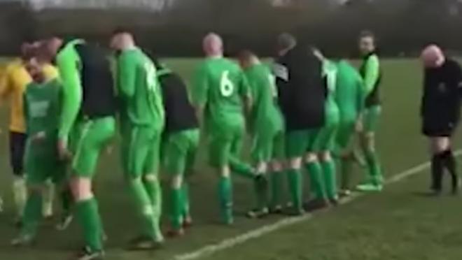 Soccer referee stud prank