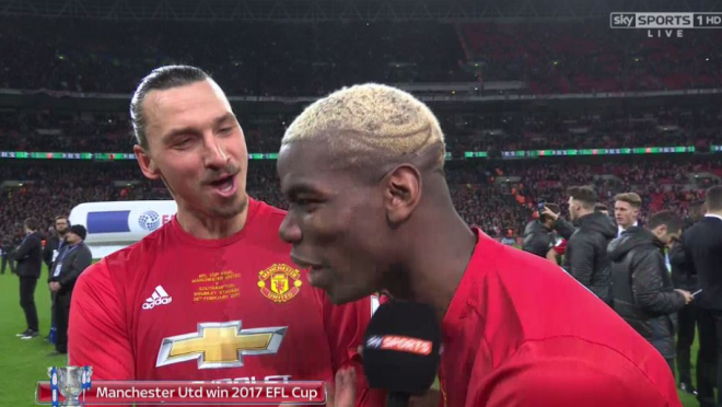 "Zlatan ""I came for free, they bought you"" to Paul Pogba"