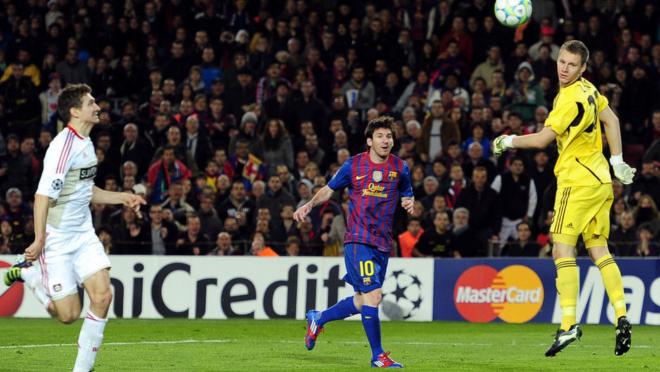 Messi Goal Against Bayern Leverkusen
