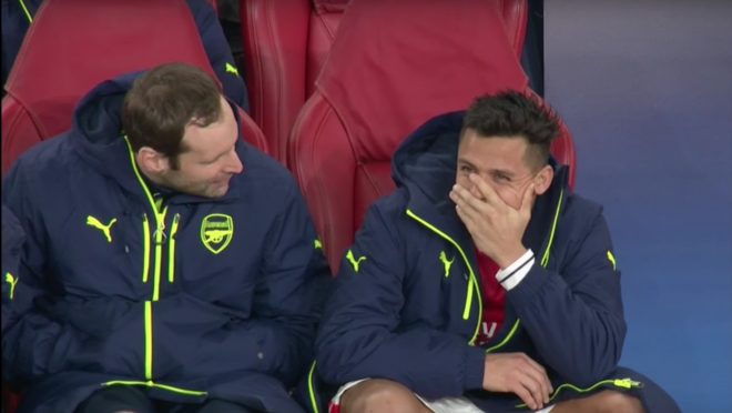 Alexis Sanchez Laughing at Crushing Loss