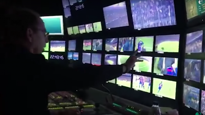 Control Room After Sergi Roberto's Goal
