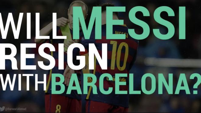 Will Messi Re-sign with Barcelona