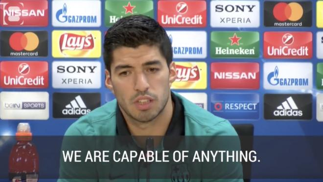 Suarez at Press Conference
