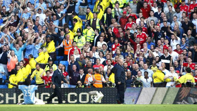 Emmanuel Adebayor Celebration vs Arsenal