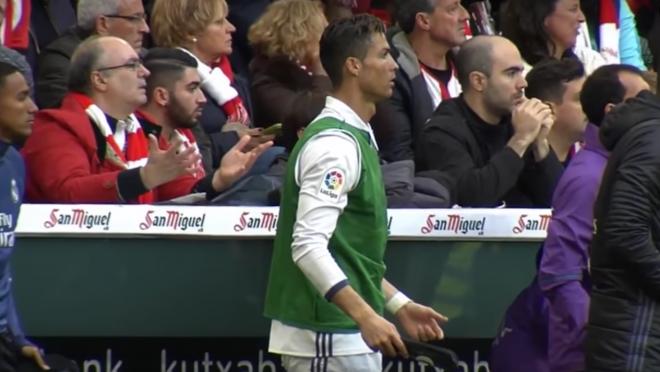 Cristiano Ronaldo reaction on the bench
