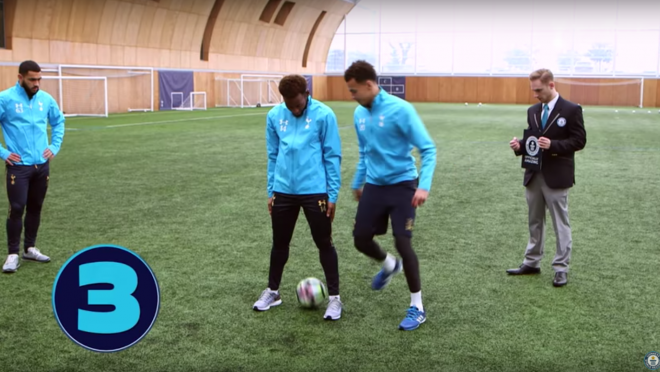 Dele Alli attempts Nutmeg World Record