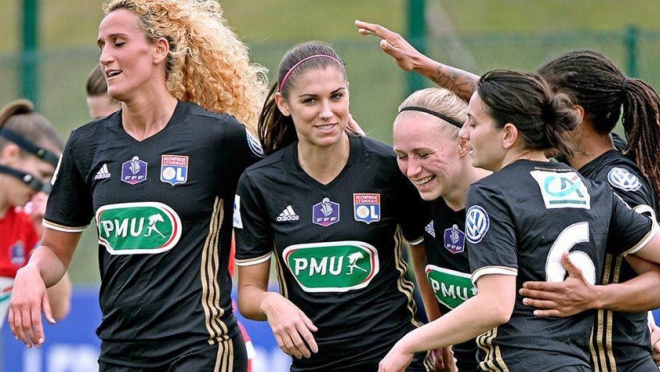 Alex Morgan in Lyon