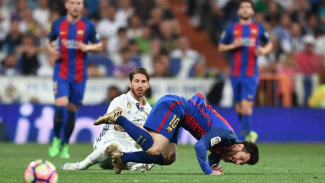 Real Madrid tackles on Messi