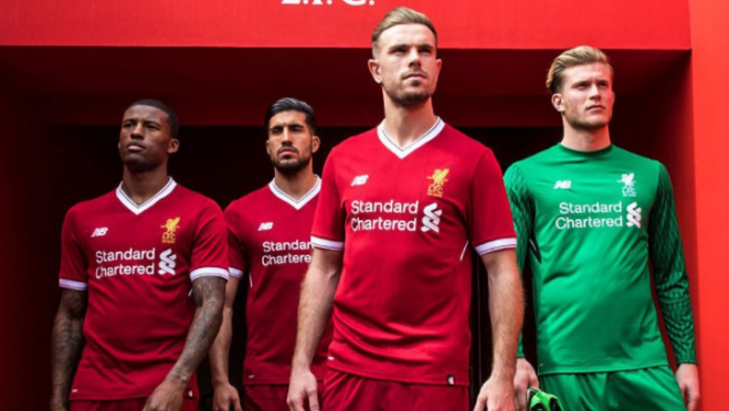 Liverpool 2017/2018 kit