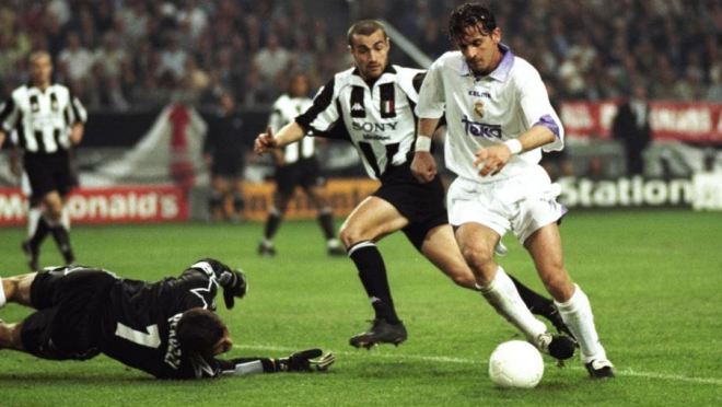 Real Madrid and Juventus in the 1998 European Cup final