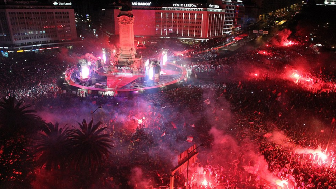Benfica title celebration