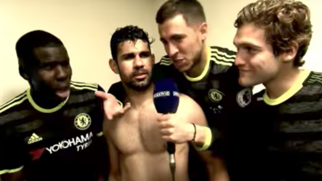 Eden Hazard Interviews Diego Costa