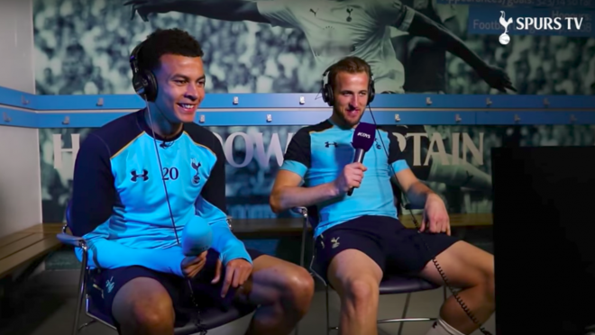 Spurs players Dele Alli and Harry Kane try their hand at commentating