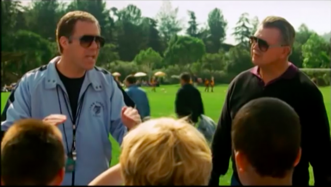 "Your week presented by Will Ferrell in ""Kicking & Screaming"""