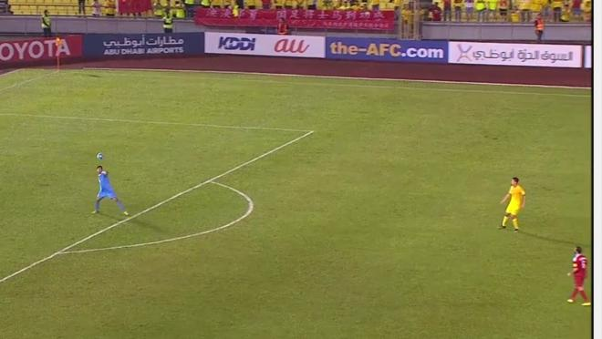Goalkeeper Ibrahim Alma Punches Ball To The Halfway Line
