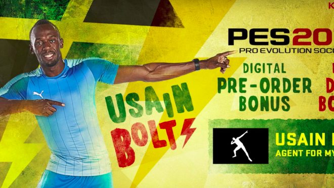 Usain Bolt Pro Evolution Soccer Video Game