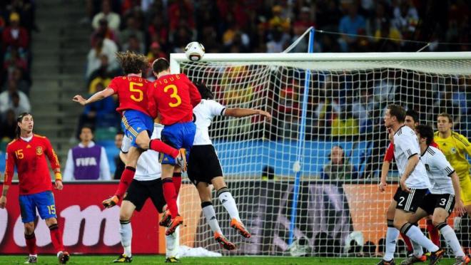 Carles Puyol Header vs Germany 2010 World Cup