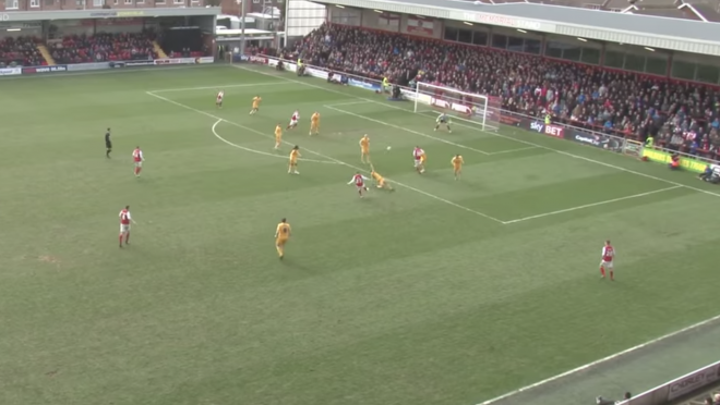 David Ball Amazing Chip Goal For Fleetwood Town FC