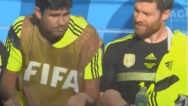 Diego Costa Tries To Wax Xabi Alonso