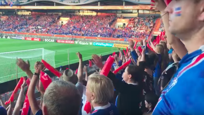 Icelandic Fans are Doing the Viking Chant Again