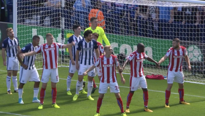 Stoke City Defending West Brom Corners