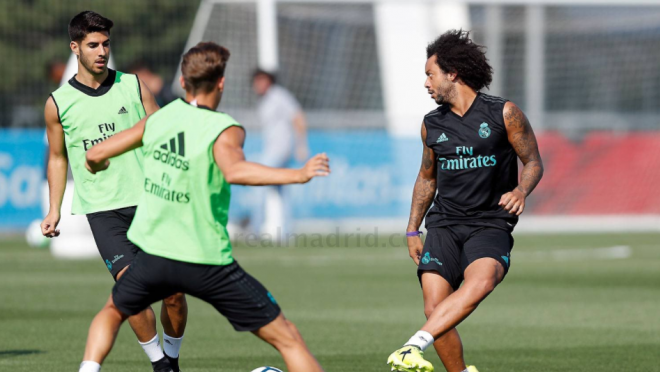 Marcelo goal in Real Madrid Training