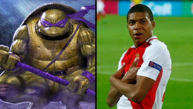 Kylian Mbappe Donatello - Ninja turtles
