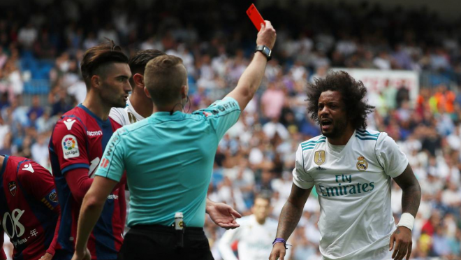 Marcelo red card, Real Madrid panic