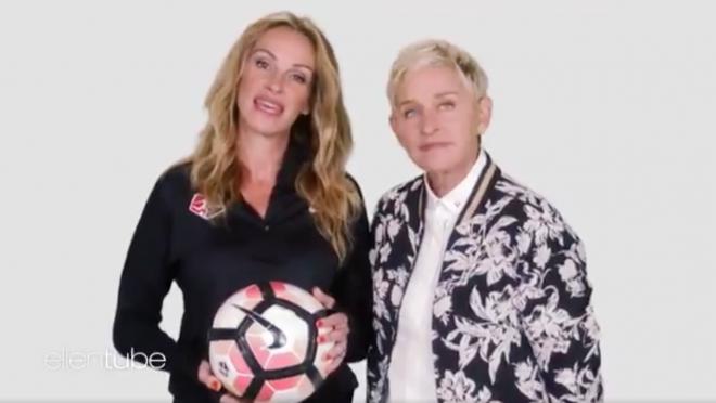 NWSL ad campaign, Pass The Ball, Ellen Degeneres